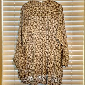 Maurices Tops - Maurice Plus Size Geometric Pattern Blouse 3X